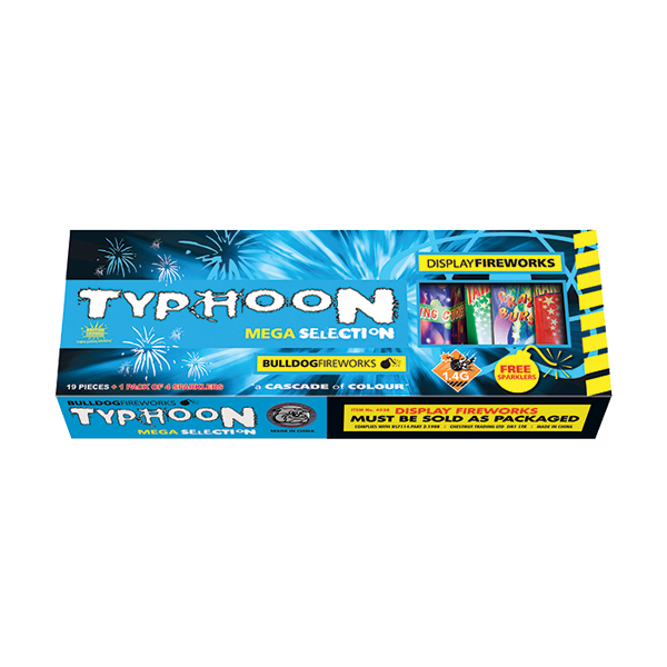 Cut Price Fireworks Leicester Typhoon Selection Box
