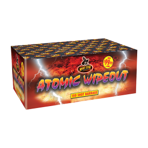 Cut Price Fireworks Leicester Atomic Wipeout 150 Shot Barrage
