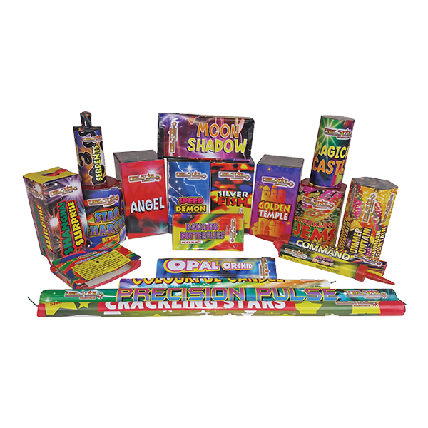Cut Price Fireworks Leicester Monster Selection Box Contents