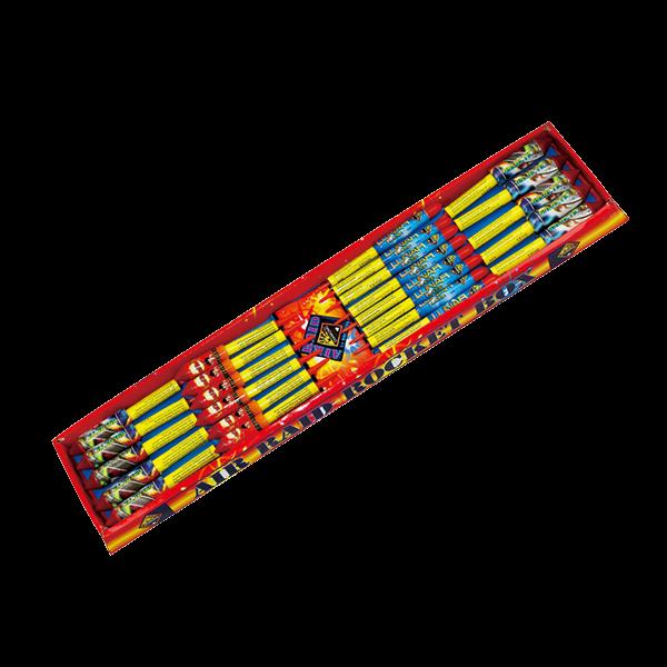 Cut Price Fireworks Leicester Air Raid 24 Piece Rockets