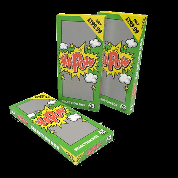 Cut Price Fireworks Leicester Kapow 63 Piece Selection Box