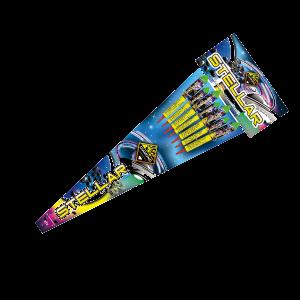 Cut Price Fireworks Leicester Stellar 7 Piece Rockets